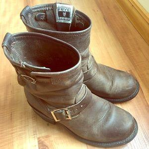 Frye Engineer ankle boots, dark brown